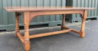 Quality Craftsman Made Oak Refectory Dining Table to Seat 8 - 10 People